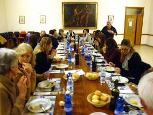 Cena dell'incontro formativo di conversazioni in compagnia